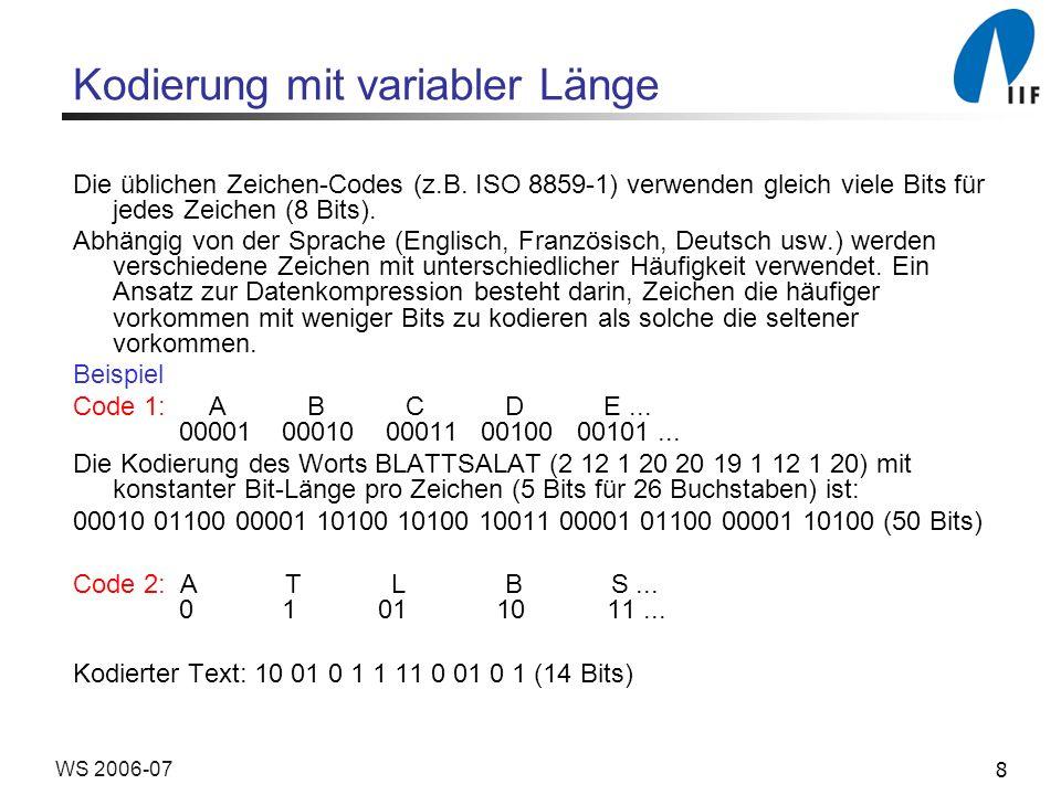 Kodierung mit variabler Länge