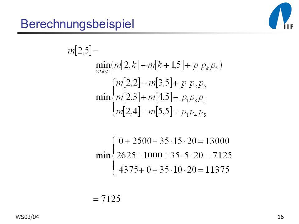 Berechnungsbeispiel WS03/04