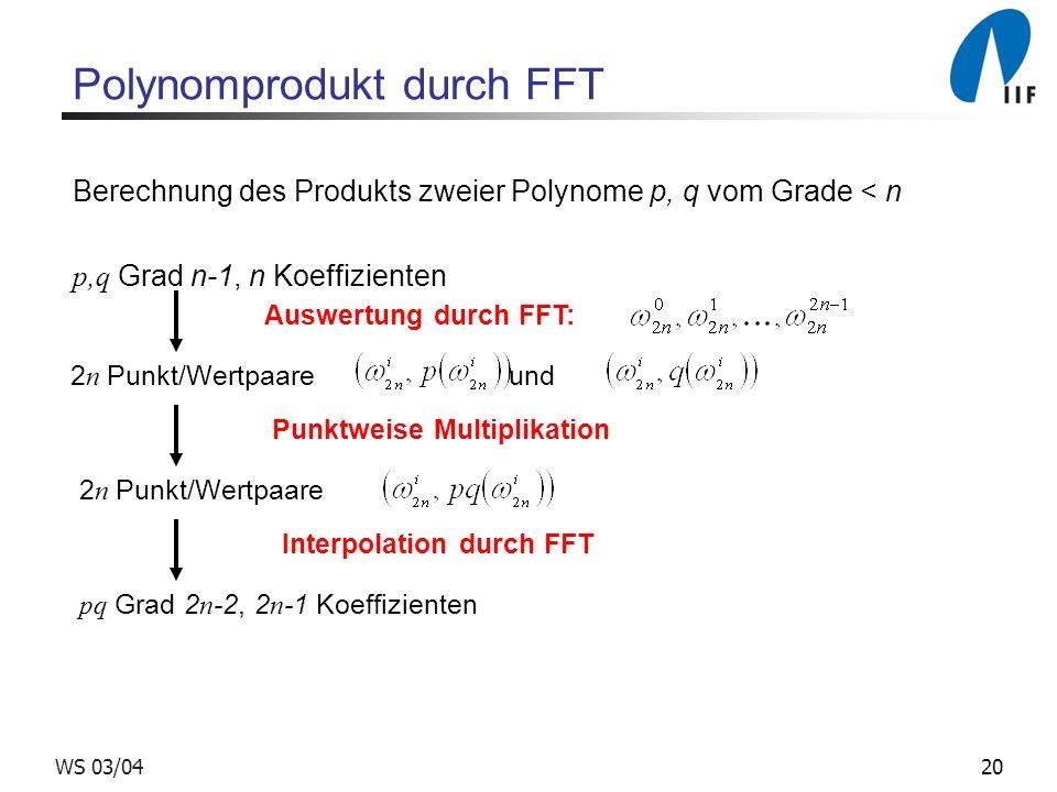 Polynomprodukt durch FFT