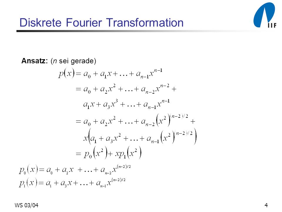 Diskrete Fourier Transformation