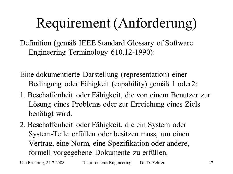 Requirement (Anforderung)