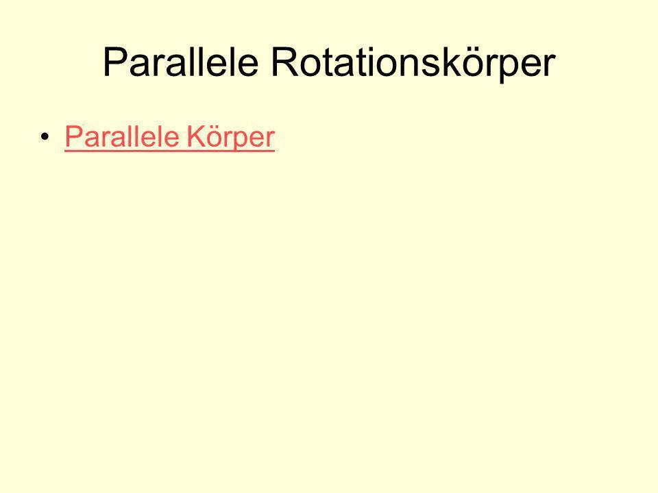 Parallele Rotationskörper