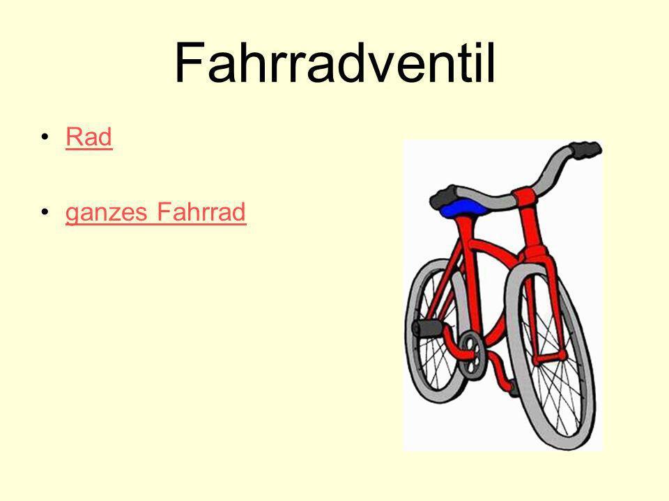 Fahrradventil Rad ganzes Fahrrad