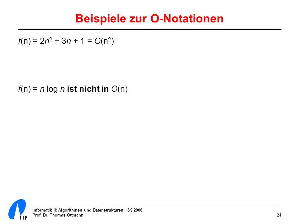 Beispiele zur O-Notationen
