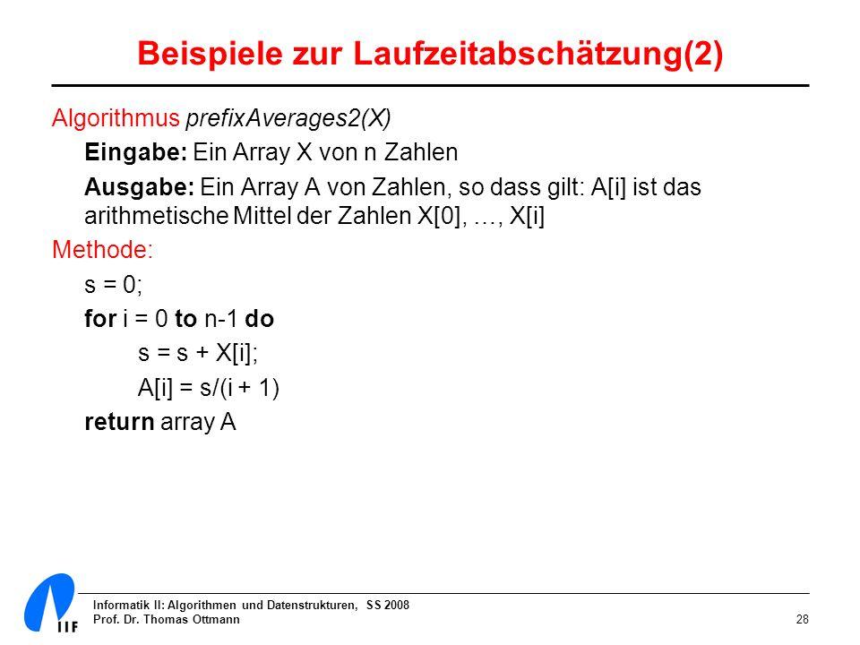Beispiele zur Laufzeitabschätzung(2)