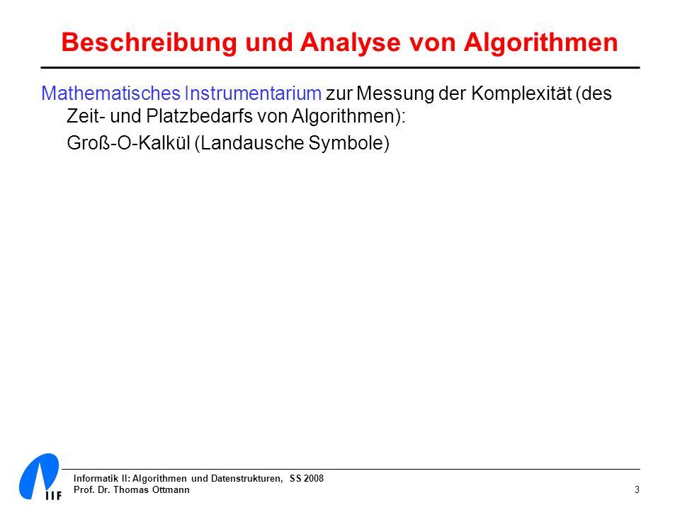 Beschreibung und Analyse von Algorithmen