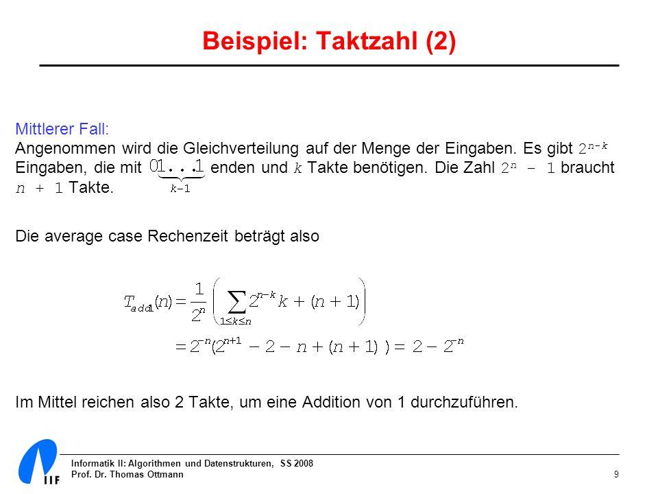 Beispiel: Taktzahl (2)