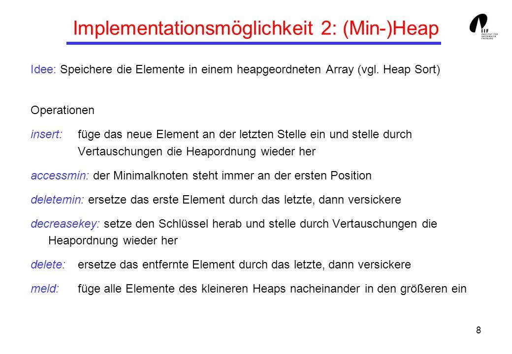 Implementationsmöglichkeit 2: (Min-)Heap