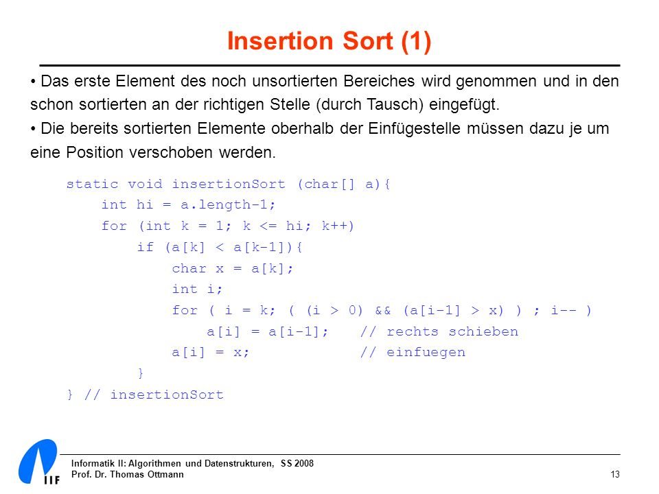 Insertion Sort (1)