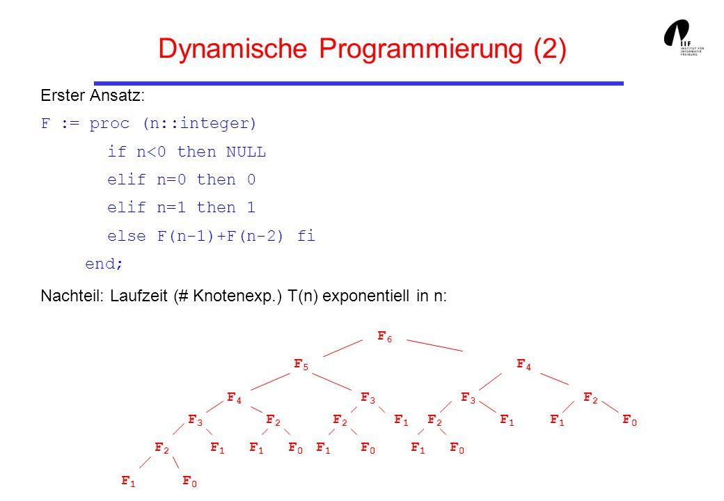 Dynamische Programmierung (2)
