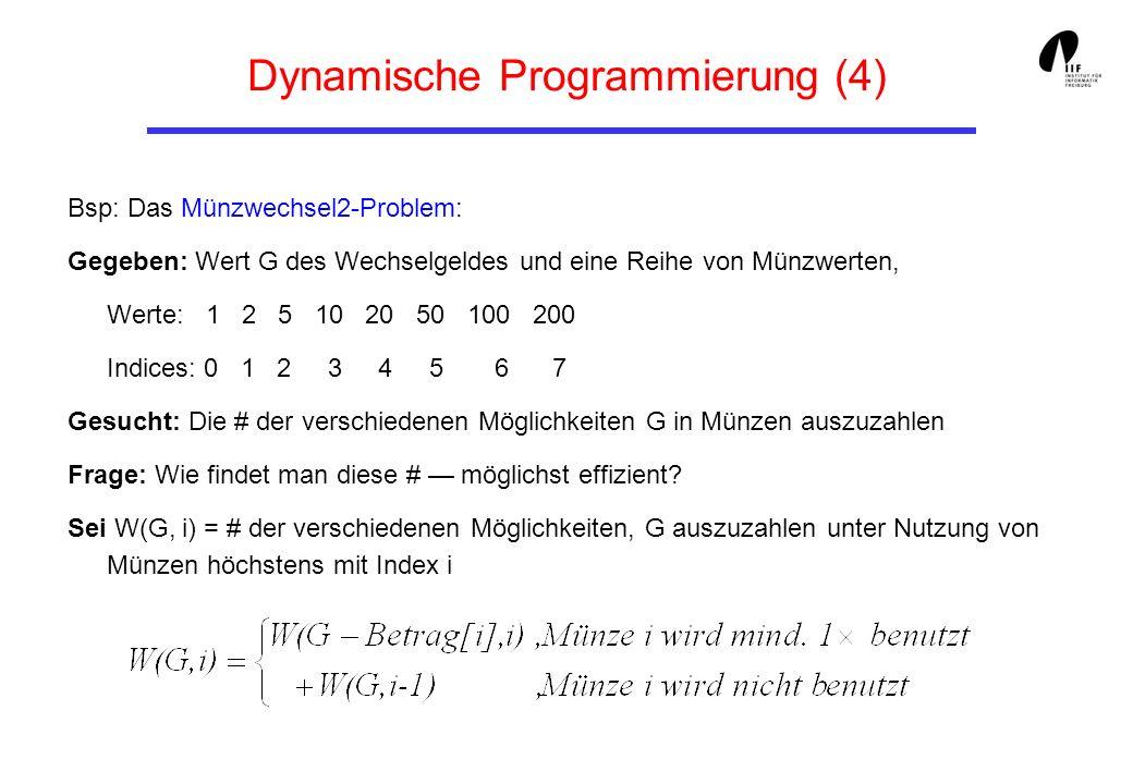 Dynamische Programmierung (4)