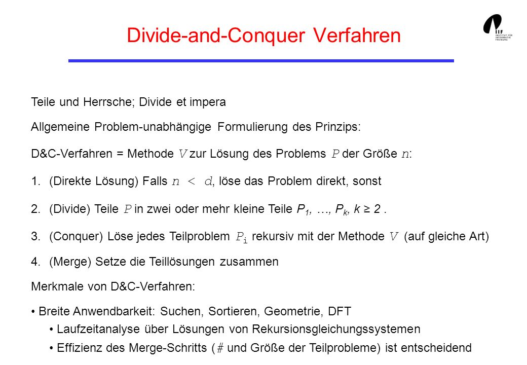 Divide-and-Conquer Verfahren