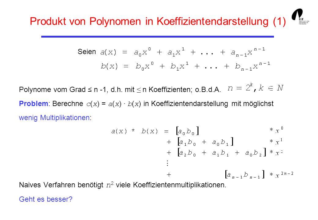 Produkt von Polynomen in Koeffizientendarstellung (1)
