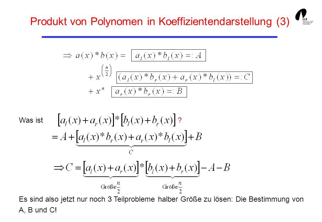 Produkt von Polynomen in Koeffizientendarstellung (3)