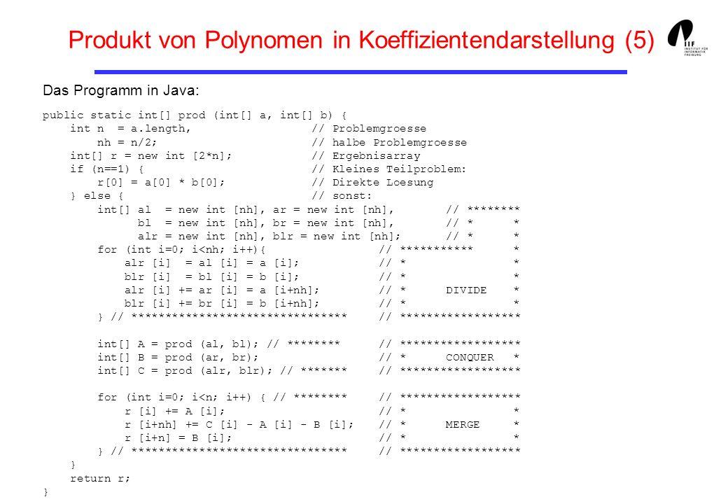 Produkt von Polynomen in Koeffizientendarstellung (5)