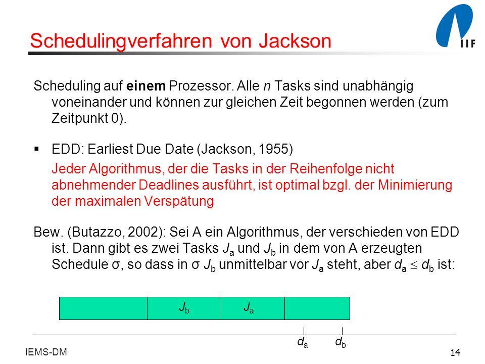 Schedulingverfahren von Jackson