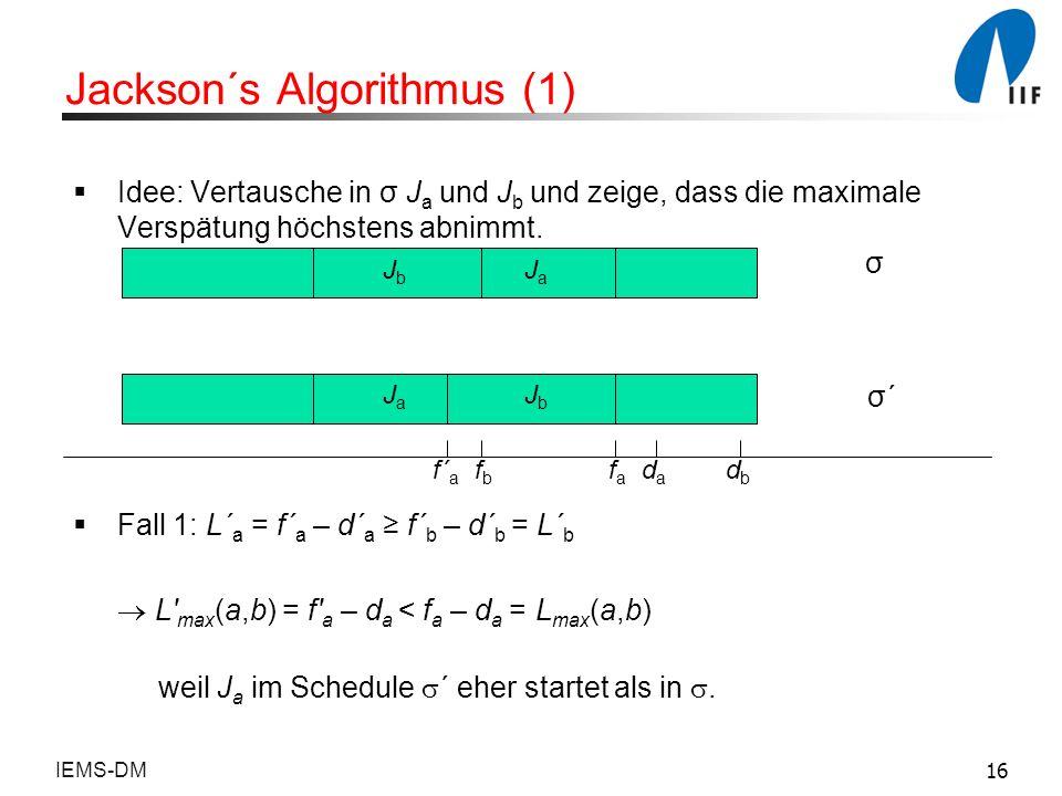 Jackson´s Algorithmus (1)