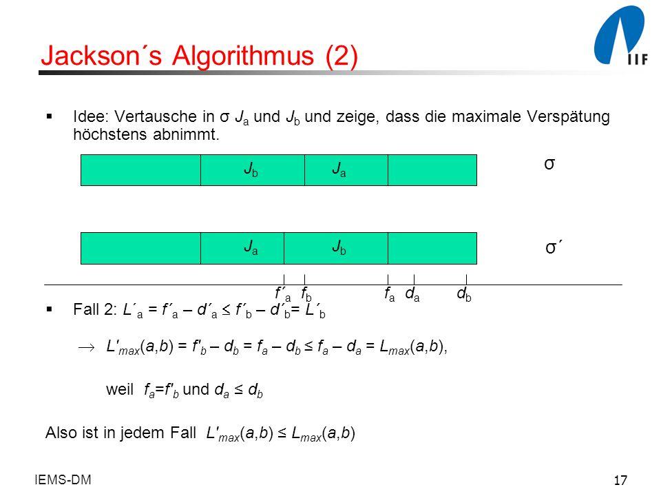 Jackson´s Algorithmus (2)