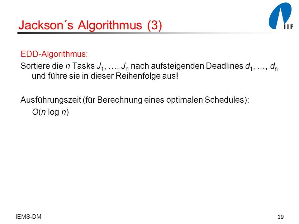 Jackson´s Algorithmus (3)