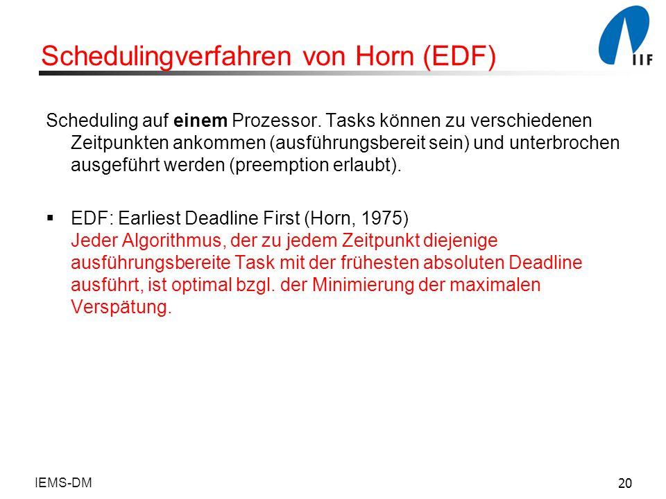 Schedulingverfahren von Horn (EDF)