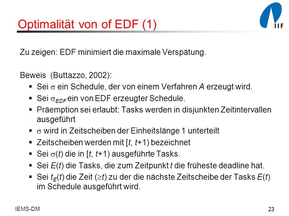 Optimalität von of EDF (1)