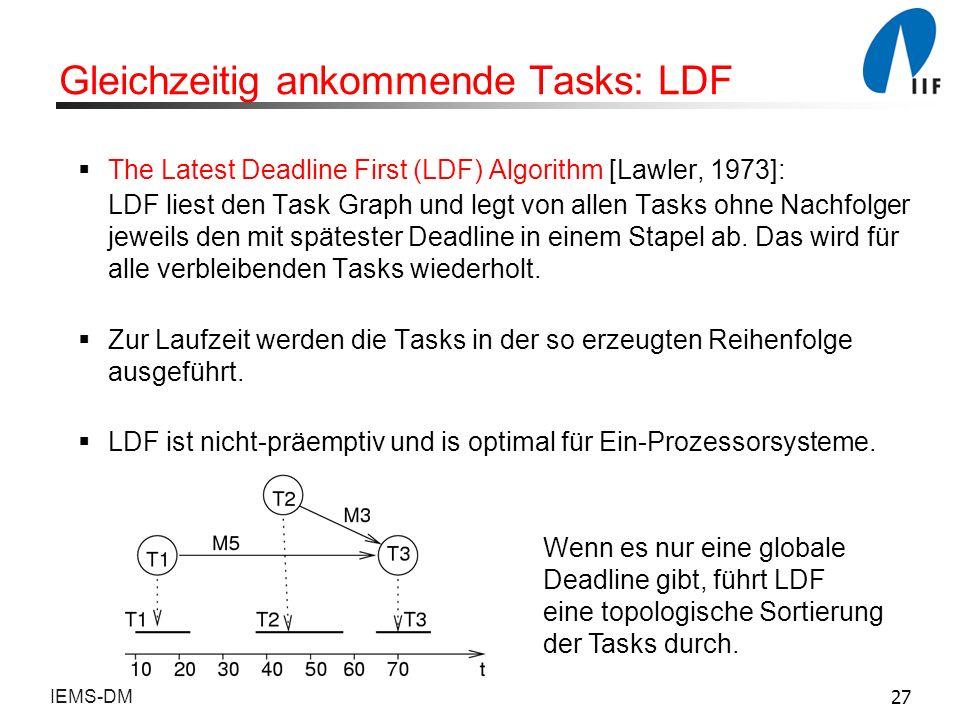 Gleichzeitig ankommende Tasks: LDF