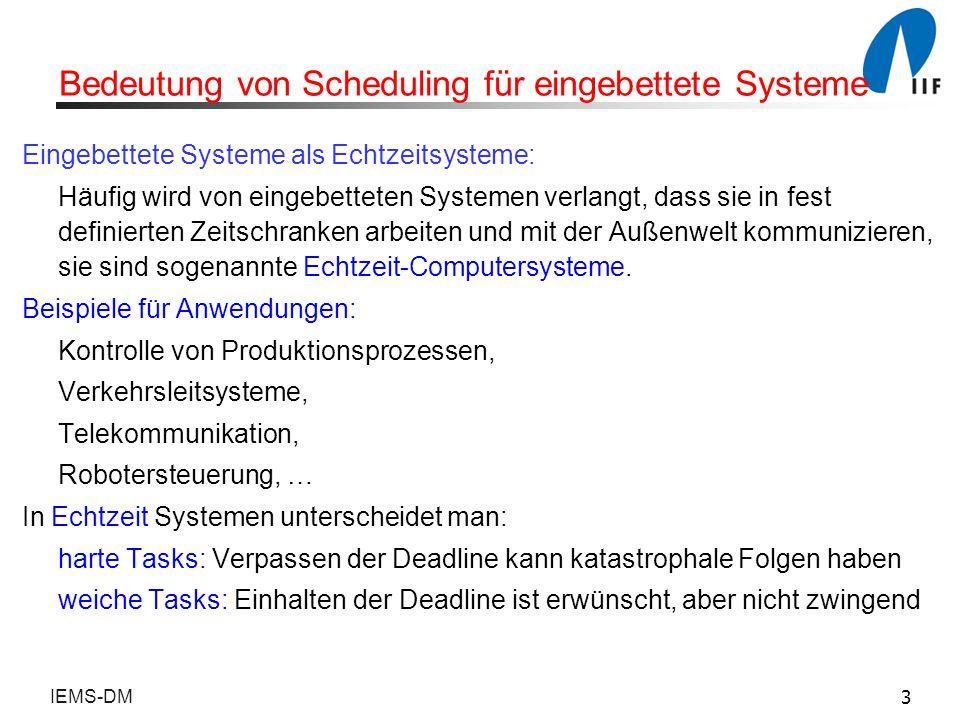 Bedeutung von Scheduling für eingebettete Systeme