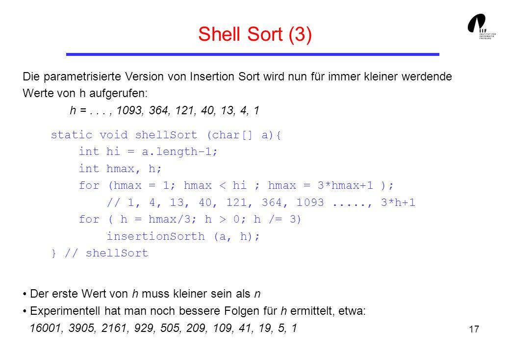 Shell Sort (3)