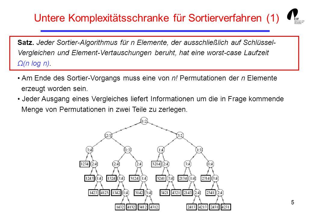 Untere Komplexitätsschranke für Sortierverfahren (1)