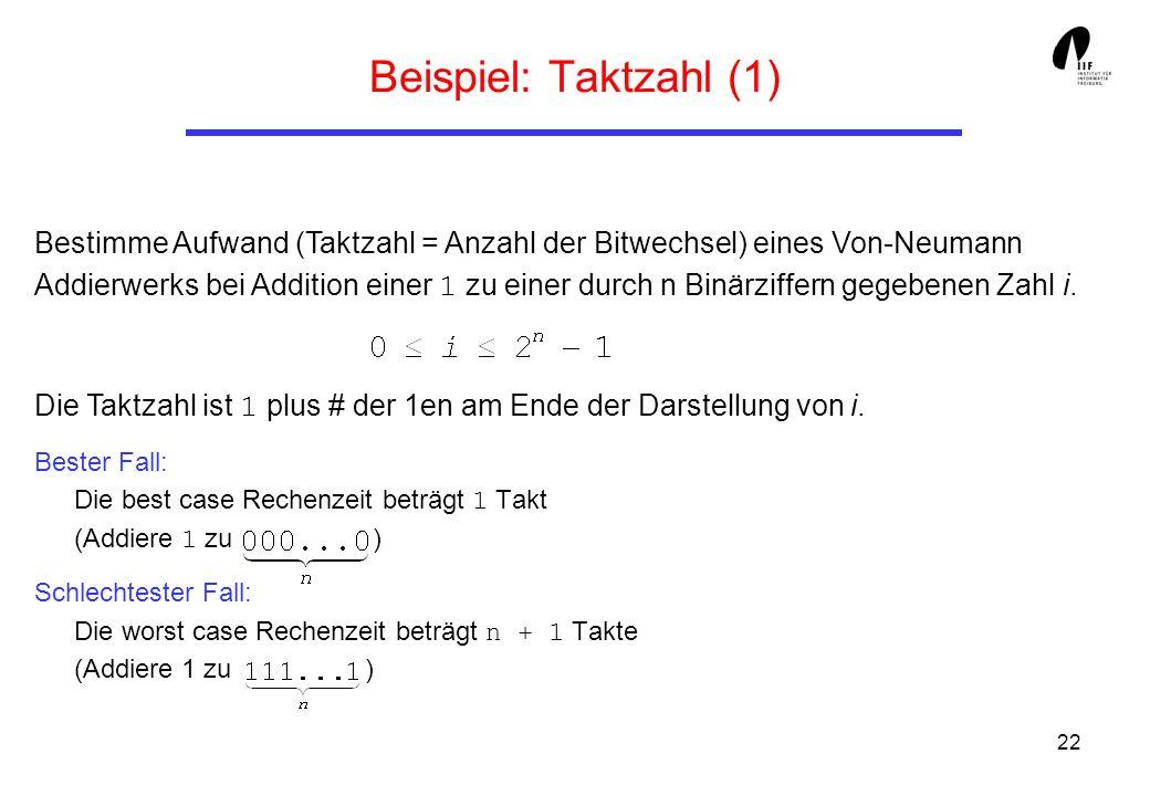 Beispiel: Taktzahl (1)
