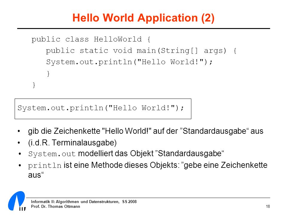 Hello World Application (2)