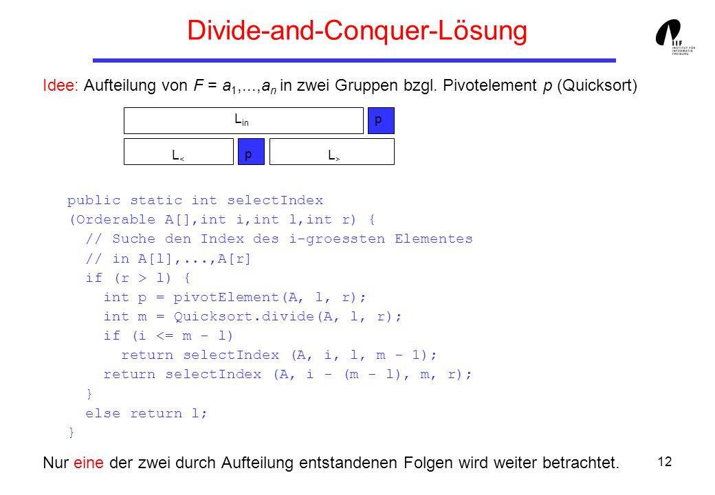 Divide-and-Conquer-Lösung