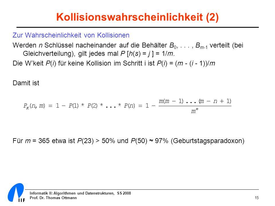 Kollisionswahrscheinlichkeit (2)