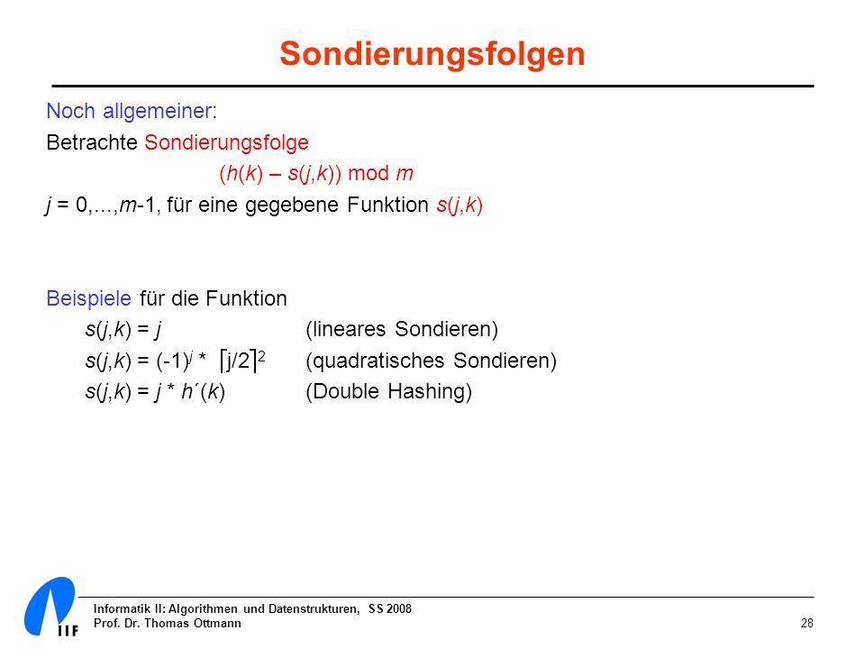 Sondierungsfolgen Noch allgemeiner: Betrachte Sondierungsfolge