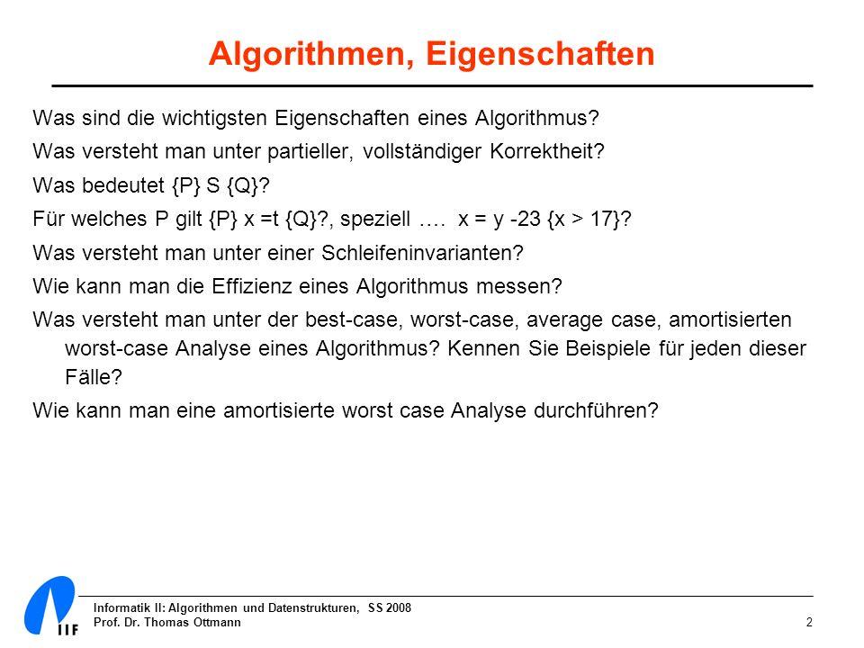 Algorithmen, Eigenschaften