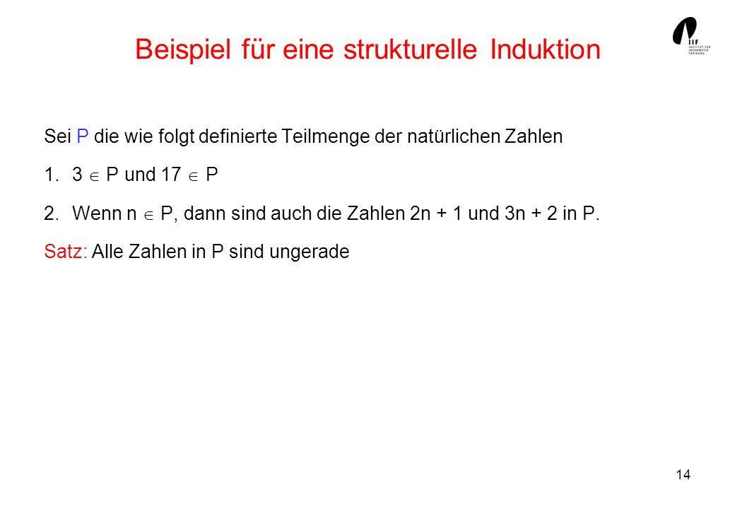 Beispiel für eine strukturelle Induktion