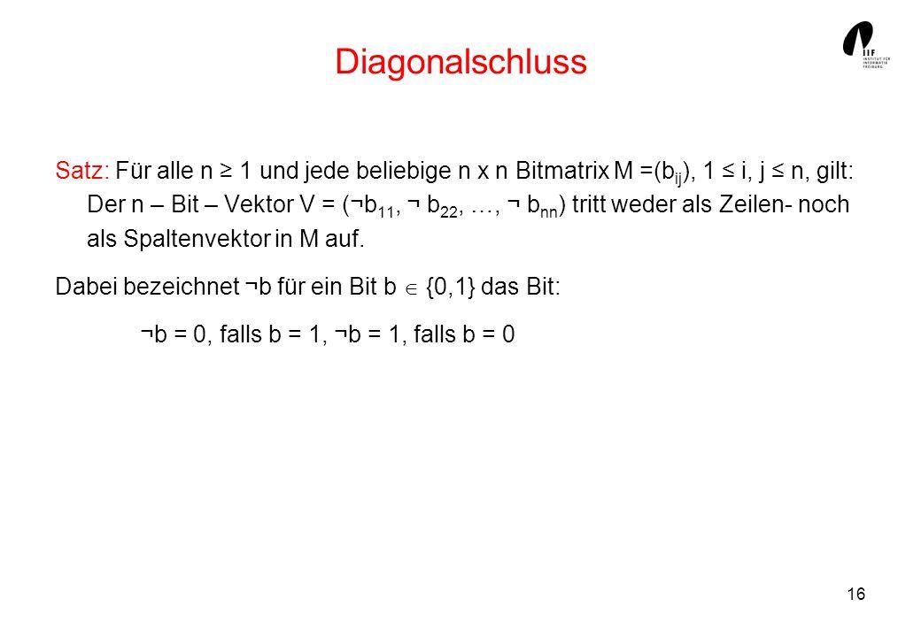 Diagonalschluss