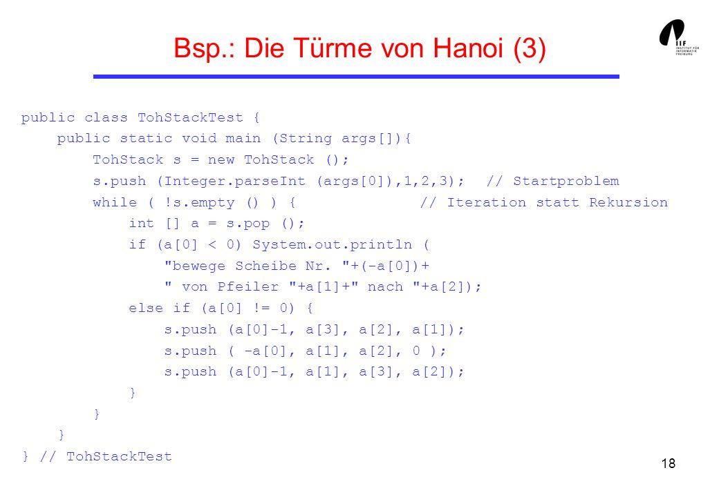 Bsp.: Die Türme von Hanoi (3)