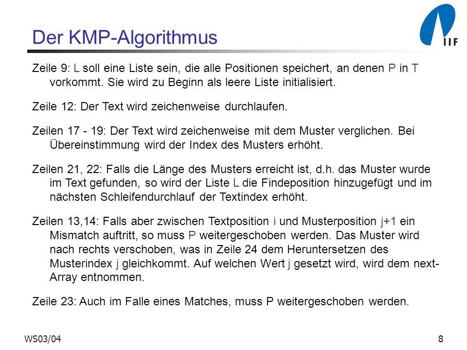Der KMP-Algorithmus