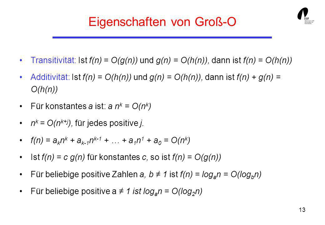 Eigenschaften von Groß-O