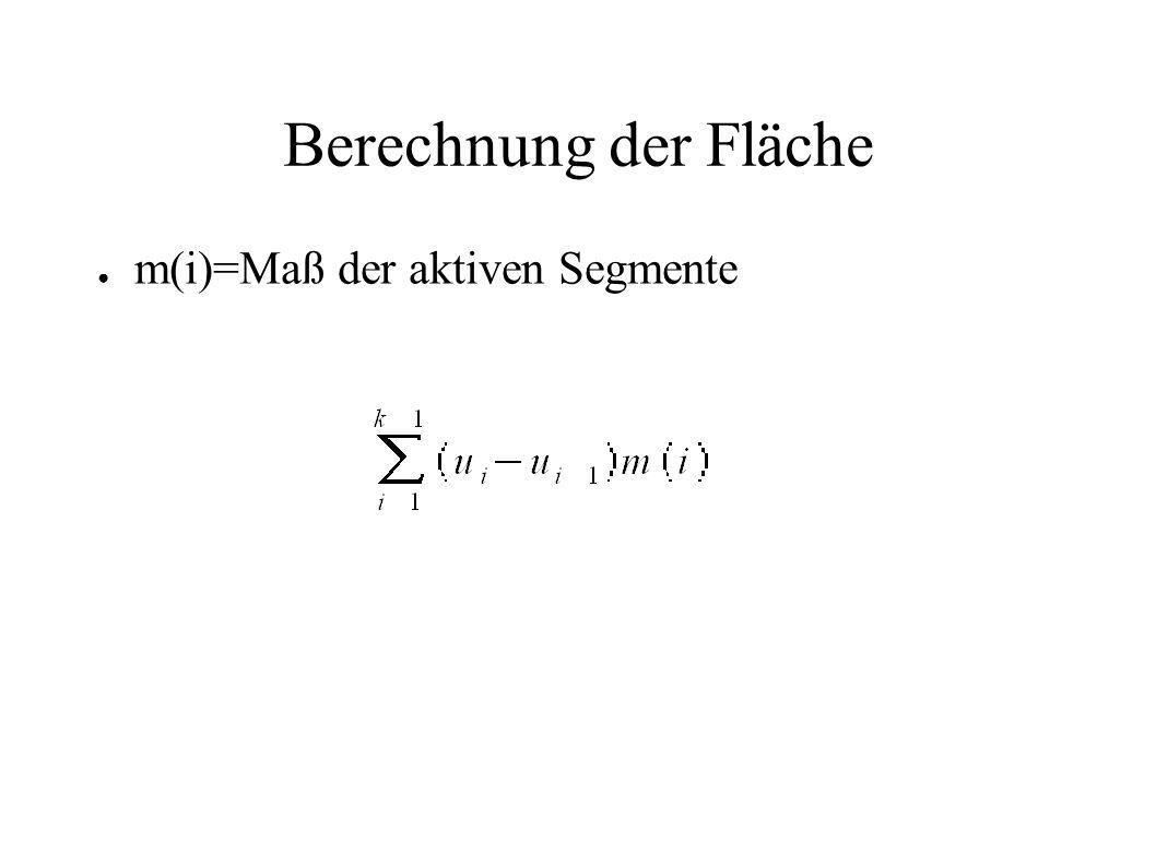 Berechnung der Fläche m(i)=Maß der aktiven Segmente