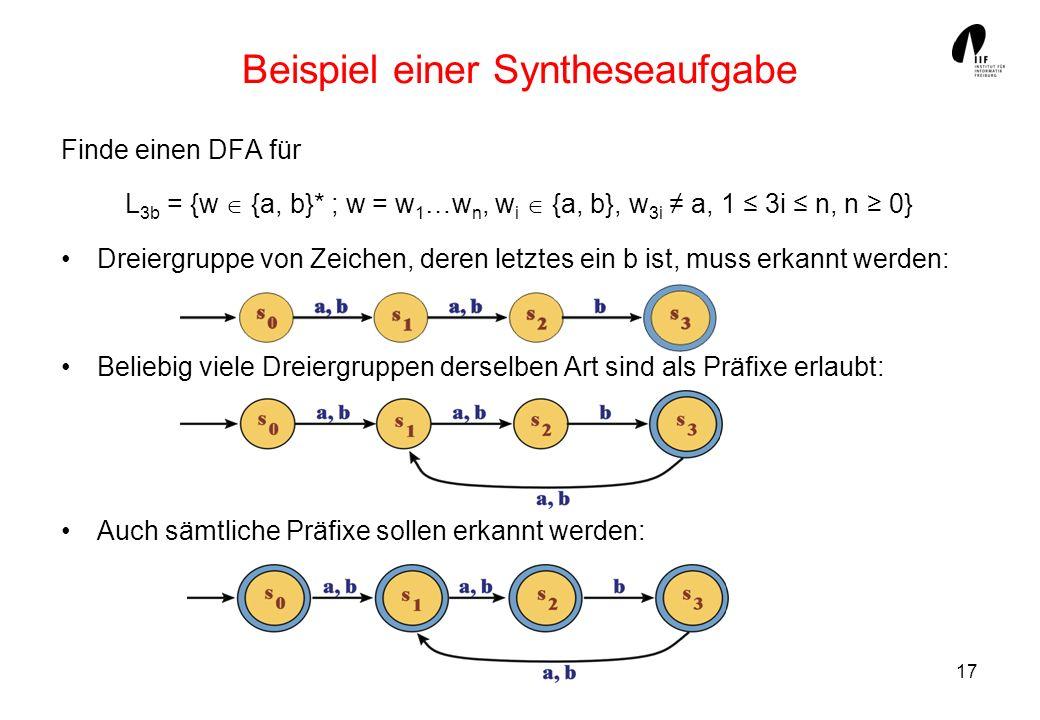 Beispiel einer Syntheseaufgabe