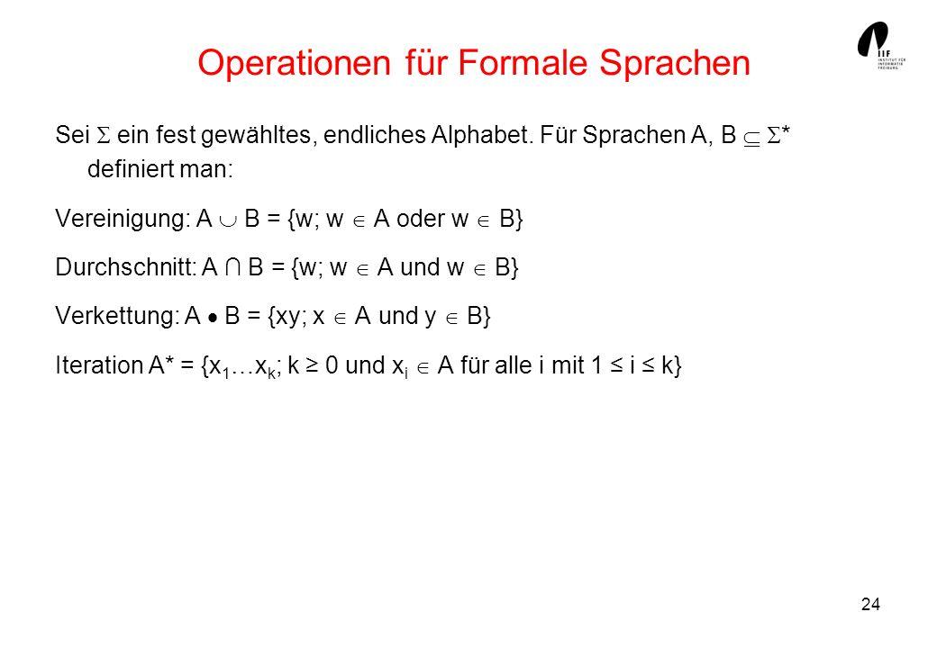Operationen für Formale Sprachen
