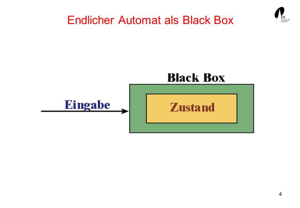 Endlicher Automat als Black Box