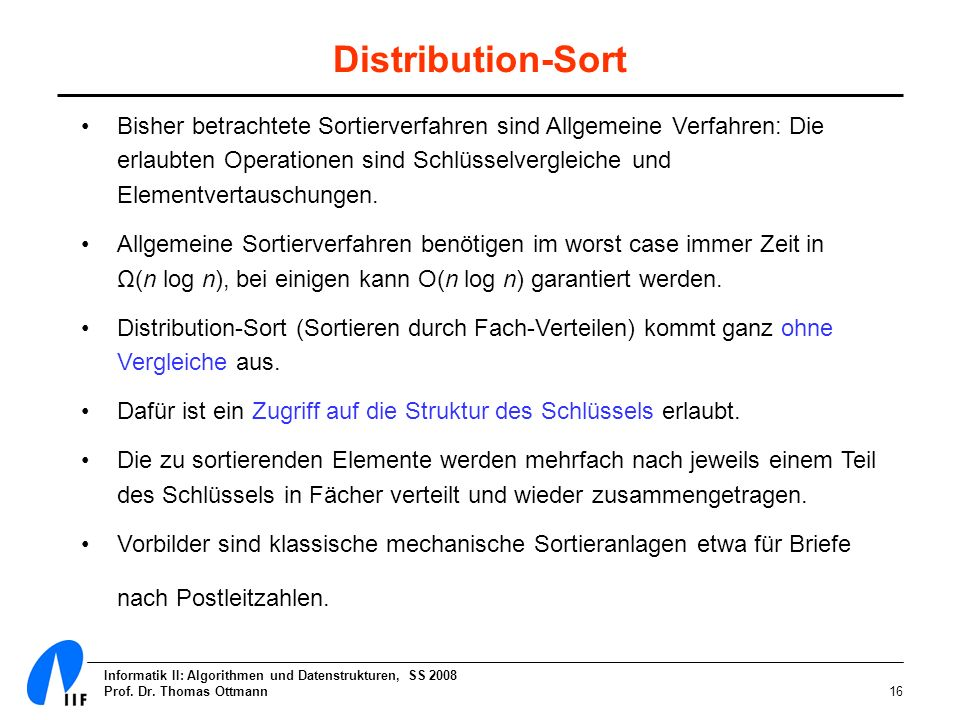Distribution-Sort