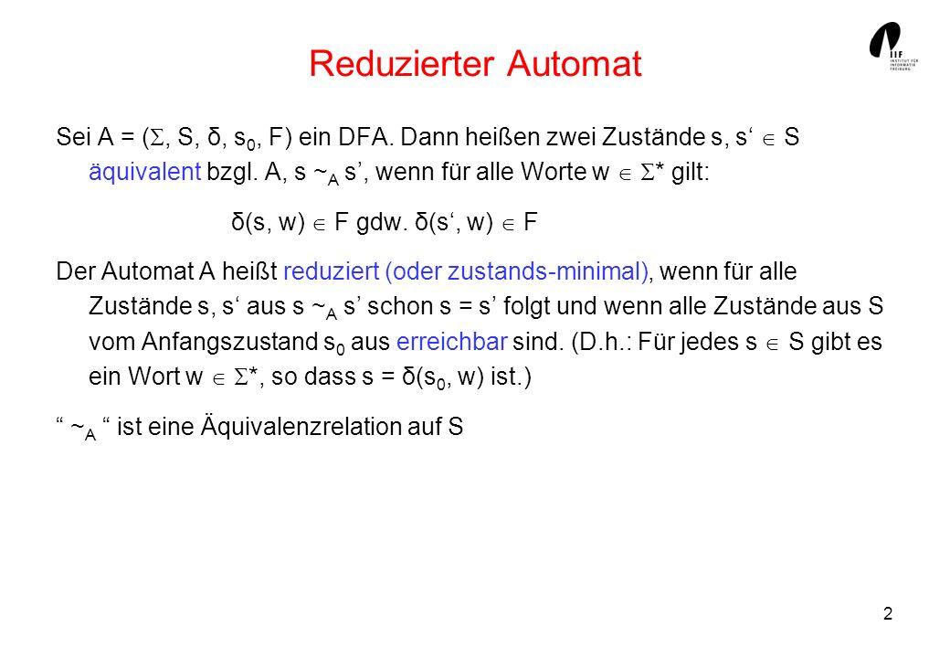 Reduzierter Automat