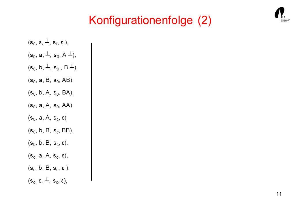 Konfigurationenfolge (2)