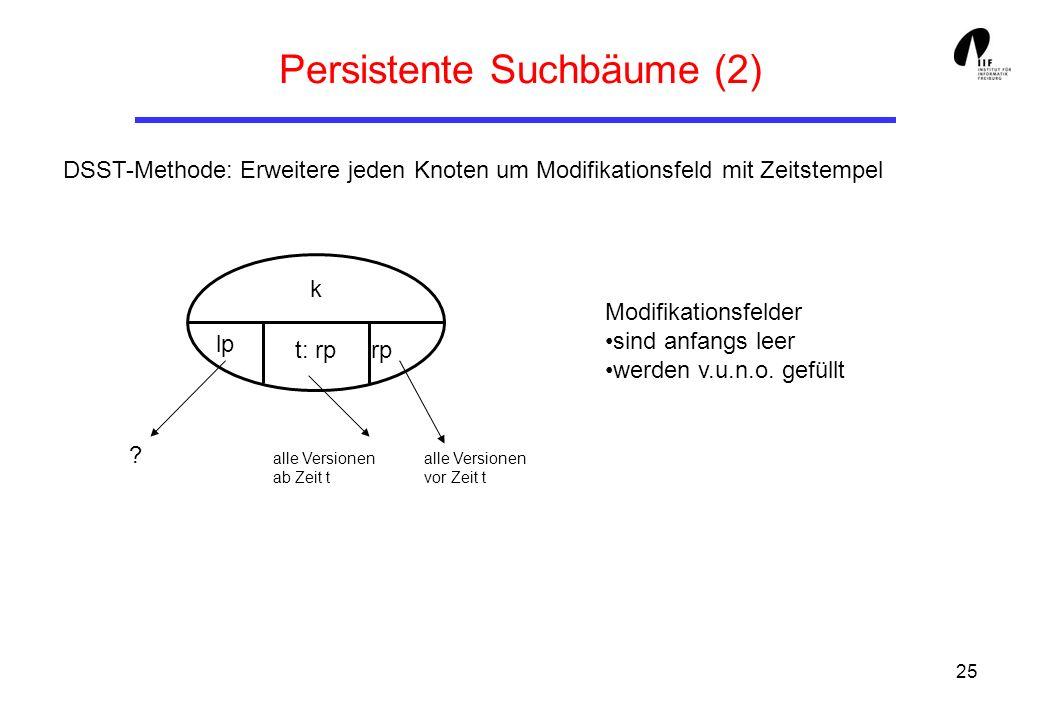 Persistente Suchbäume (2)
