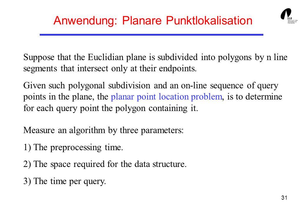 Anwendung: Planare Punktlokalisation
