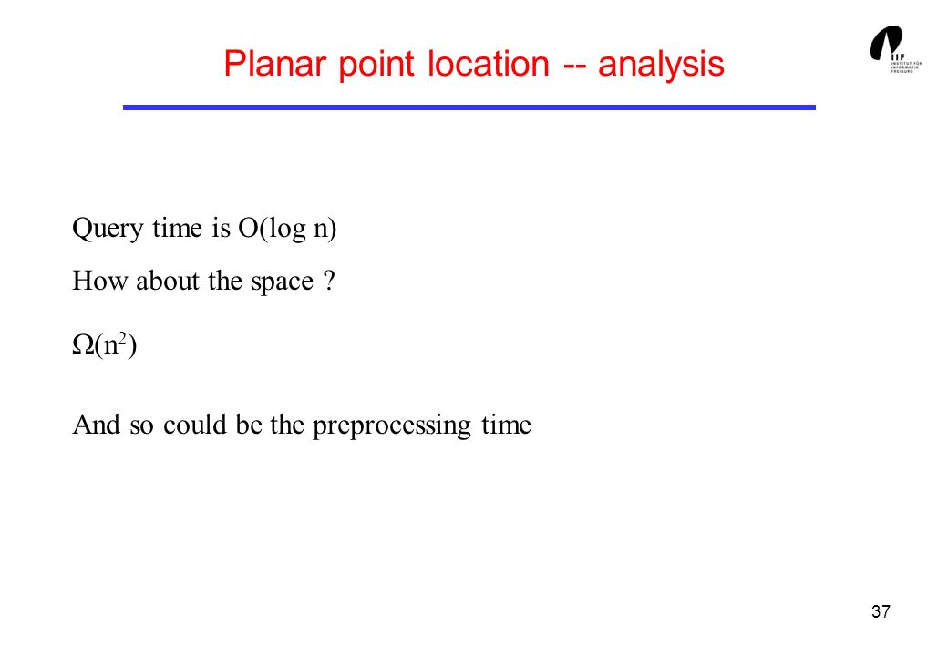 Planar point location -- analysis